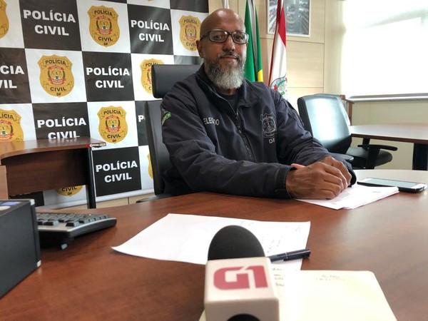 Delegado-chefe da 3ª Delegacia de Polícia (Cruzeiro), Ricardo Viana (Foto: Fabiano Andrade/TV Globo)
