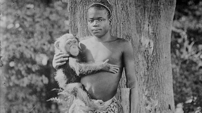 Ota Benga foi sequestrado e levado aos EUA para ser exibido em um zoológico (Foto: BIBLIOTECA DO CONGRESSO DOS EUA)