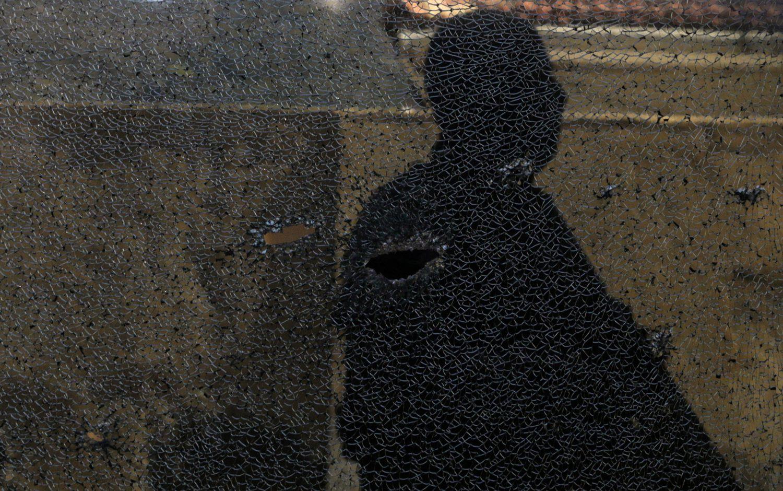 Marca de tiro no morro de São Carlos, no Rio de Janeiro, durante operação contra traficantes na semana passada.RICARDO (Foto: MORAES / REUTERS)