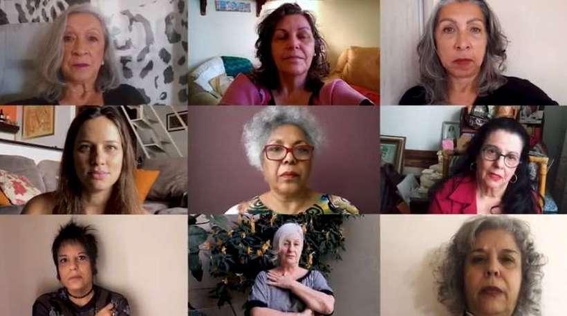 No vídeo, além das imagens gravadas pelas integrantes do movimento, dados ilustram uma violência cruel (foto: Redes Sociais/Reprodução)