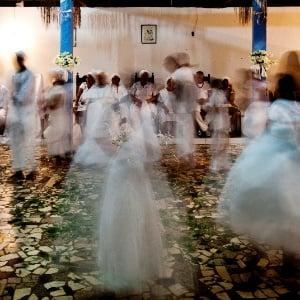 Ritual de candomblé (Foto: Eduardo Knapp/Folhapress)