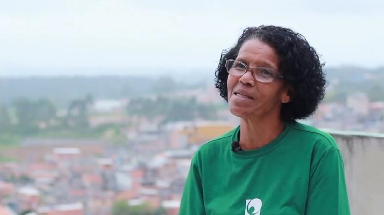 Vera Lúcia da Silva Santos, líder comunitária da periferia da zona sul de São Paulo (Foto: Reprodução/ONG Auri Verde)