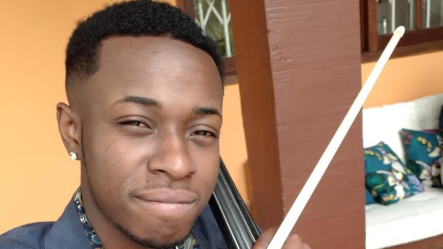 Luiz Justino, integrante da Orquestra da Grota, foi preso por suposto roubo em 2017  (Foto: Reprodução/Redes sociais)