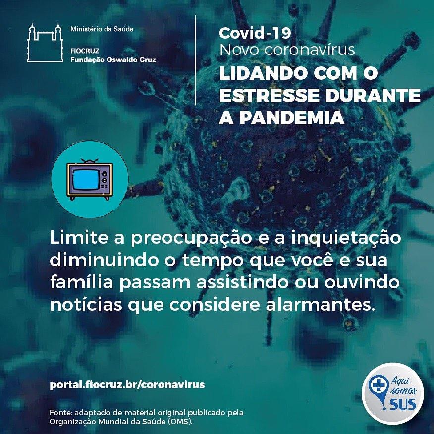 lidando com estresse na pandemia - Fiocruz