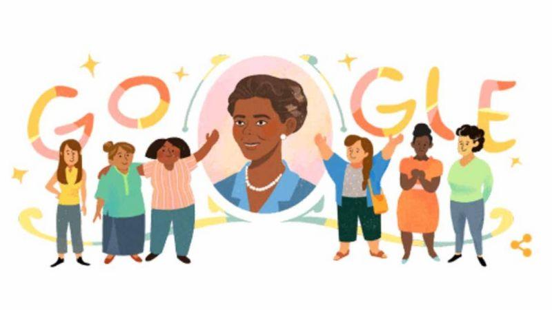 Homenagem feita pelo Google a Laudelina de Campos Melo no dia em que ela completaria 116 anos (Foto: GOOGLE)