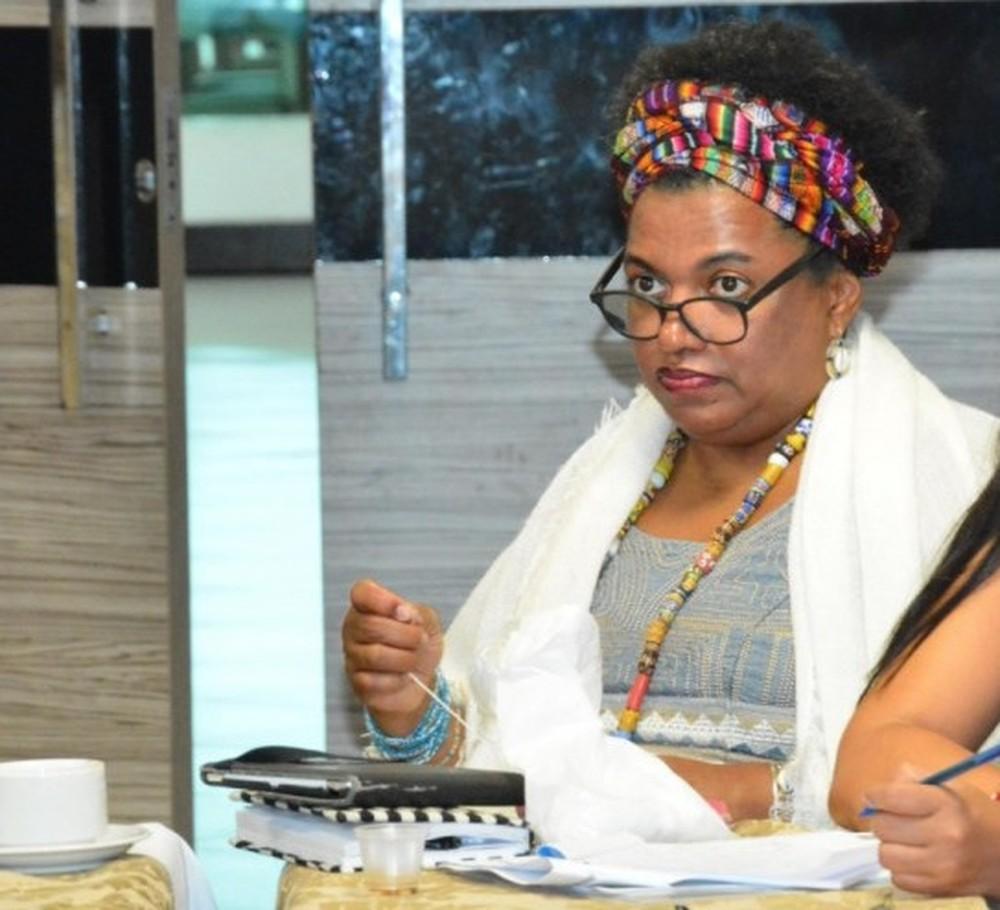 Cineasta e professora Edileuza Penha de Souza — Foto: Lauro Vasconcelos/Seduc-MA