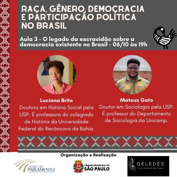 Raca, genêro, democracia e participação política no Brasil