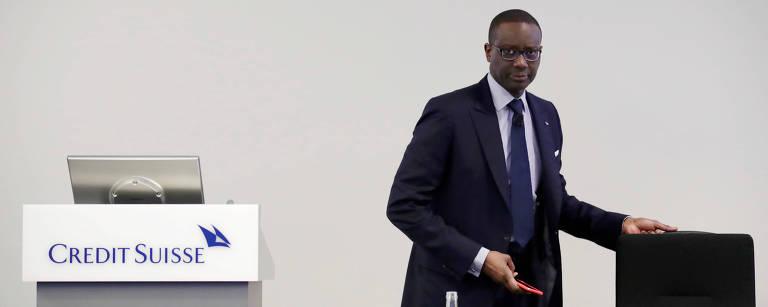 Tidjane Thiam, ex-presidente do Credit Suisse durante conferência em Zurique, Suíça - Moritz Hager - 14.fev.2018/Reuters