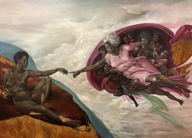 Pintura: A criação de Deus/ Harmonia Rosales
