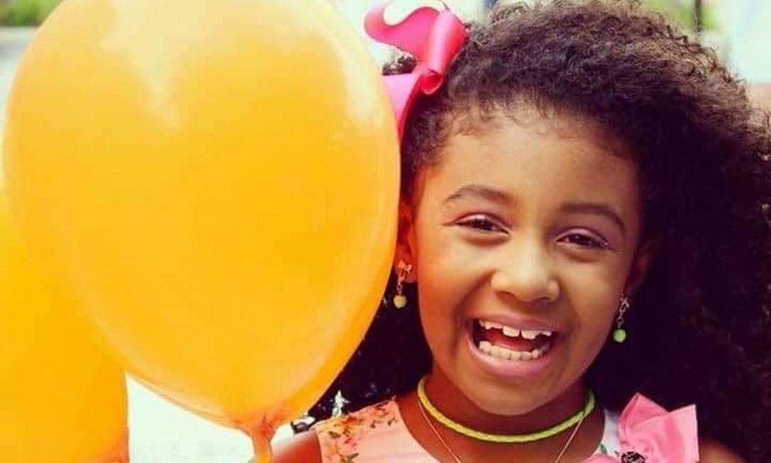 Agatha Félix, de 8 anos, morava no Complexo do Alemão (Foto: Reprodução das redes sociais)