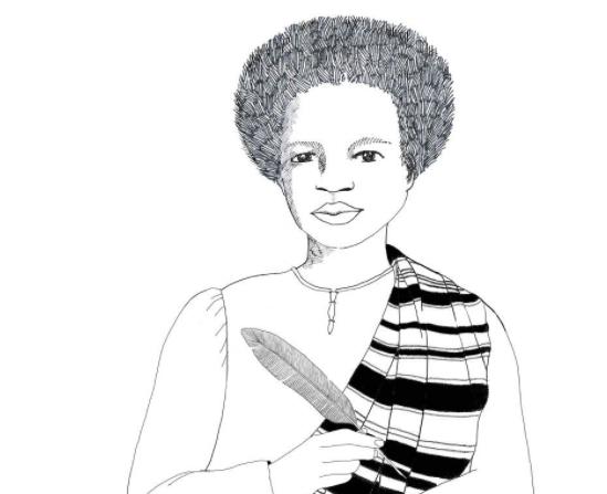 Desenho de Esperança Garcia, negra escravizada que foi reconhecida como primeira advogada do Piauí (Ilustração: Valentina Fraiz)