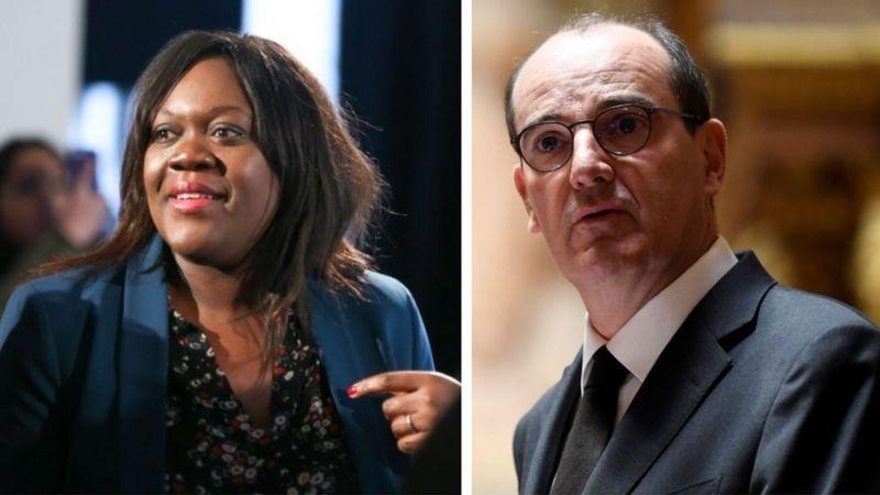 A parlamentar Laetitia Avia propôs a nova nova lei, enquanto o primeiro-ministro Jean Castex foi ridicularizado por seu sotaque (GETTY IMAGES)