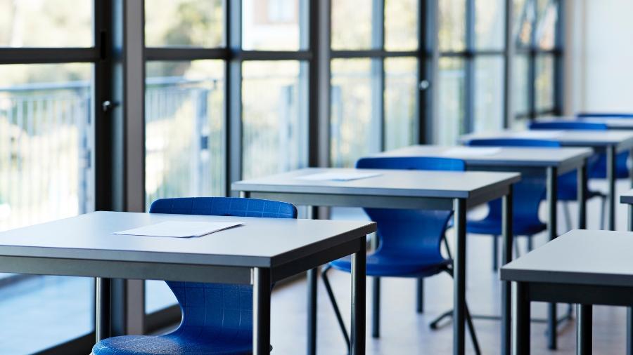 Sala de aula vazia Imagem: Getty Images