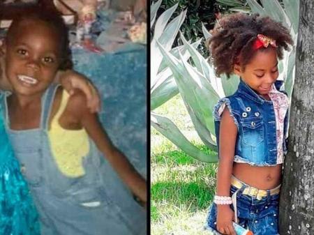 Emily Victória Silva dos Santos, 4, e Rebeca Beatriz Rodrigues dos Santos, 7, brincavam no portão de casa quando foram baleadas Imagem: Arquivo Pessoal