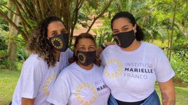 Anielle, Marinete e Luyara: as três comandam o Instituto Marielle Franco, em busca de manter vivo o legado da vereadora Foto: Divulgação/Reprodução/O Globo