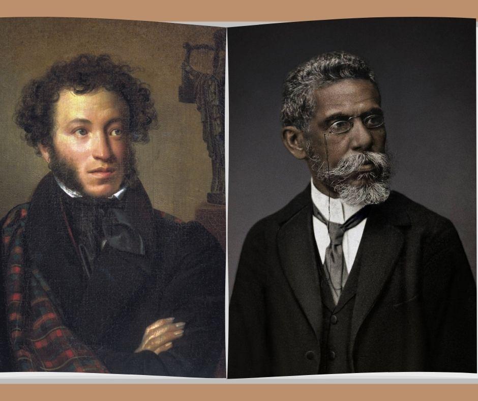 Aleksandr Púchkin e Machado de Assis (wikimedia commons)