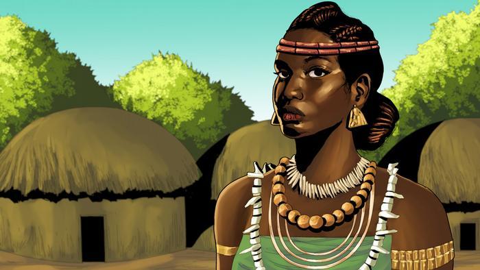 Rainha Abla Pokou (Foto: Imagem retirada do site DW)