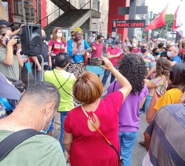 Manifestação Pelo Passe Livre dos Idosos em São Paulo. (Imagem retirada do site Arnobio Rocha)