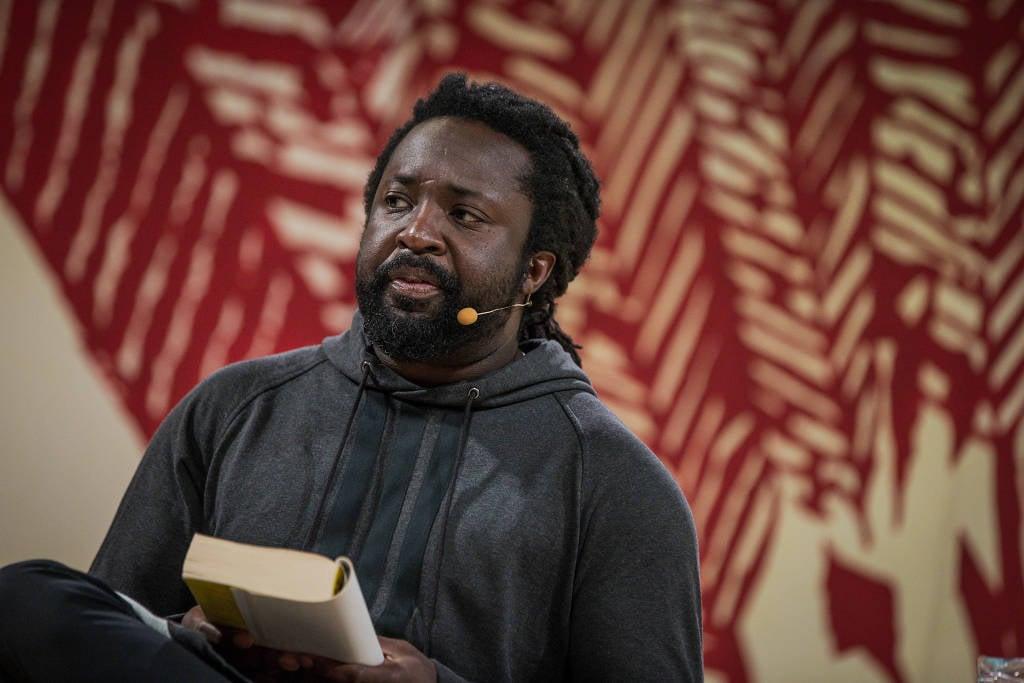 O jamaicano Marlon James, em sua participação na Flip, em 2017 (Bruno Santos/Folhapress)