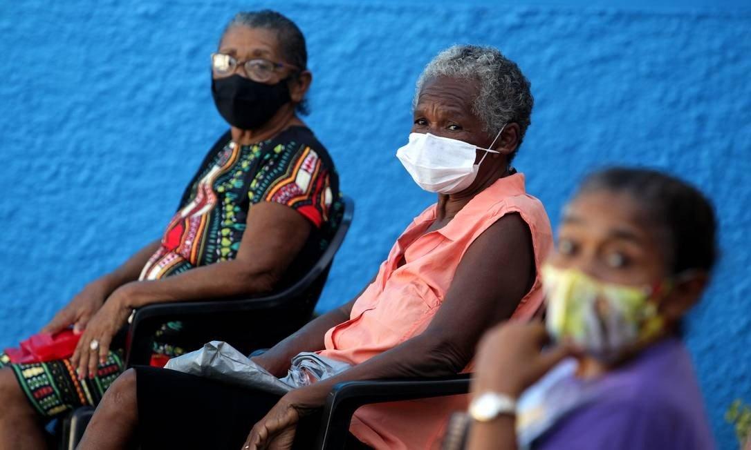 Vacinação contra a Covid-19 dos Quilombolas da comunidade Sucurijuquara, região isolada do Distrito de Mosqueiro, no Pará (Foto: FramePhoto / Agência O Globo)
