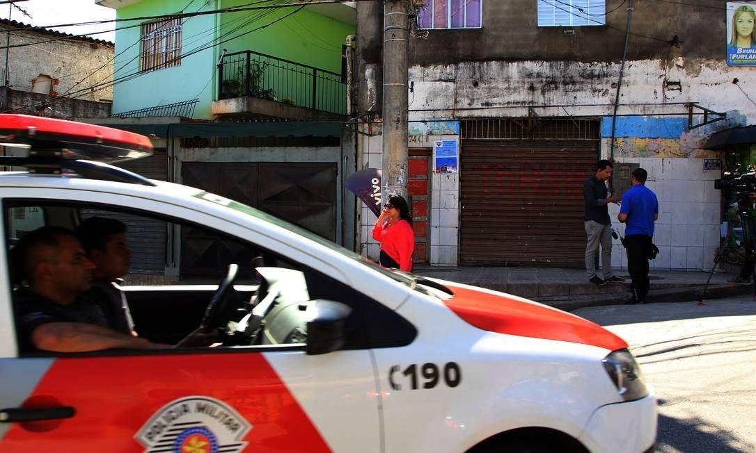 Bar em Osasco onde ocorreram 10 das 17 mortes (Foto: Marcos Alves / Agência O Globo)