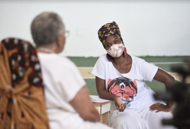 Espetaculo Yèyé-Projeto MAMA ÁFRICA (Foto: Ismael Silva)