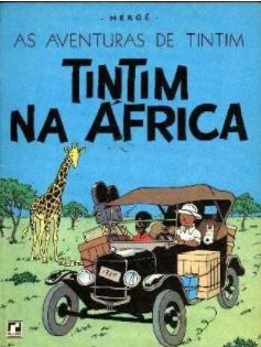 Figura 5. Capa da HQ Tintim na África