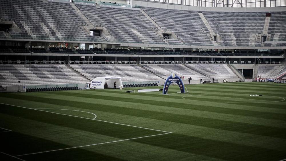 Medida vale para todos os estádios no Paraná — Foto: Matheus Sebenello/NeoPhoto