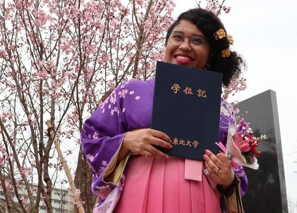 Marina Melo fez Mestrado em História em Universidade de Tohoku, no Japão; para ela, é preciso incentivo para jovens estudarem fora (Foto: Arquivo Pesssoal)