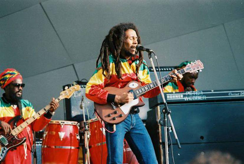 Bob Marley durante um show em 1980 (Foto: GETTY)