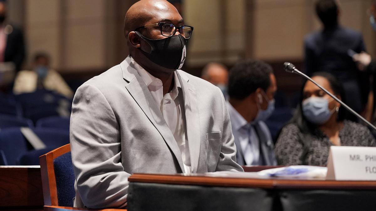 Philonise Floyd, irmão de George Floyd, fala em audiência da Comissão Judiciária da Câmara dos Deputadosn (Foto: Foto: Greg Nash -10.jun.2020/ Pool/ AFP/ Getty Images)