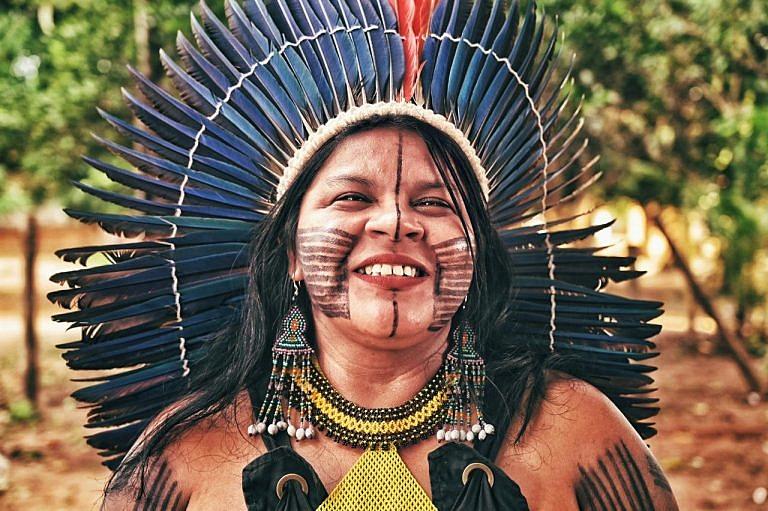 Nascida na indígena de Araribóia, no Maranhão, Sônia é uma das maiores lideranças indígenas e ambientais do país (Foto: Fedrico Zuvire)