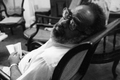 Abdias do Nascimento: Escritor, ator, artista plástico, professor, político e ativista | Foto: Paulo Moreira/Agência O GLOBO