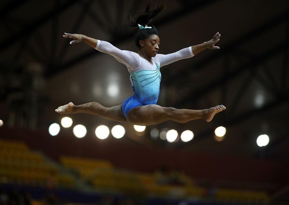 Simone Biles (Foto: Karim Faafar/ AFP)