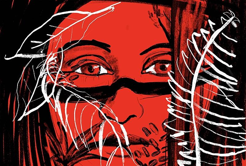 Ilustração Resistência das Mulheres Indígenas do Brasil - Fernando Bertolo