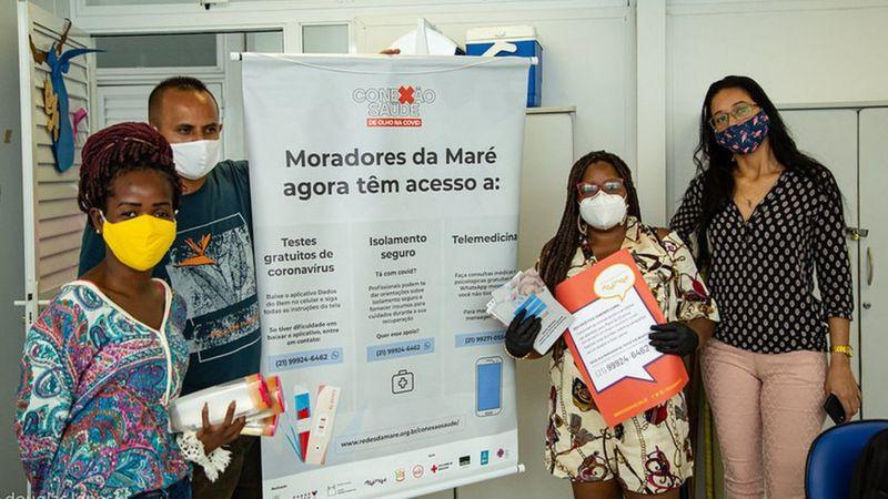 Projeto criado por moradores, Fiocruz e ONGs tem plano de isolamento 'sob medida' para moradores da favela da Maré, testagem em massa para covid e atendimento médico por telefone (Foto: DOUGLAS LOPES)