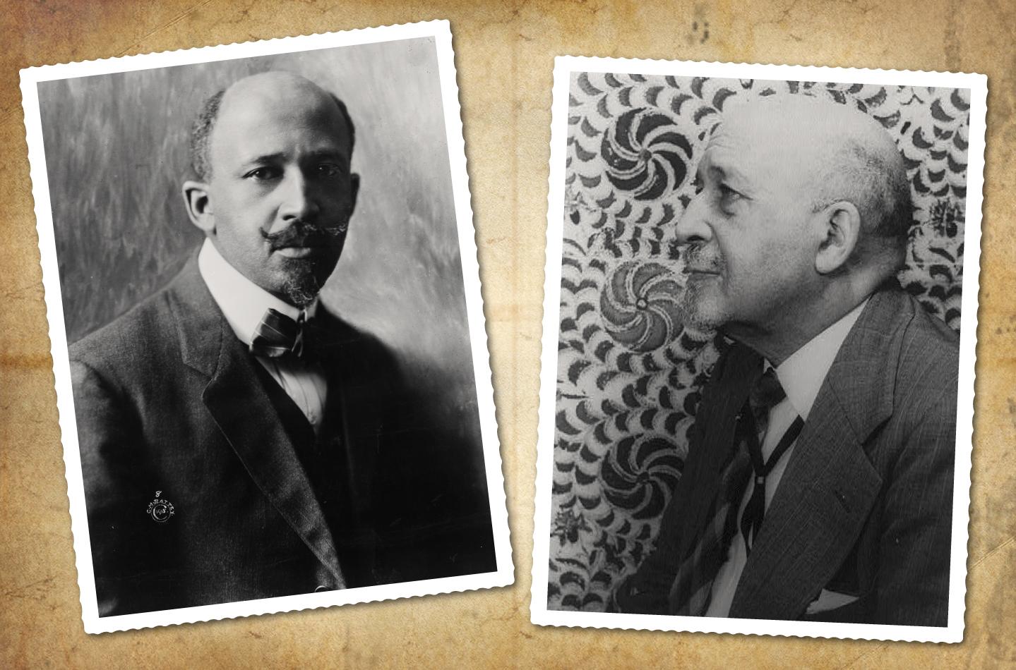 W. E. B. Du Bois em 1918 e 1946: coleção de ensaios, 'As almas do povo negro' ('The souls of black folk') é obra seminal na literatura americana e na sociologia  (Fotos: Cornelius M. Battey e Coleção Carl Van Vechten da Biblioteca do Congresso dos EUA)