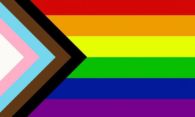 Bandeira Progressista do Orgulho LGBTQIA+/ Divulgação